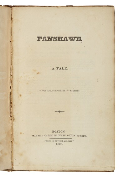 View 1. Thumbnail of Lot 72. Hawthorne, Nathaniel | The Maier-Bishop-Blair Copy.