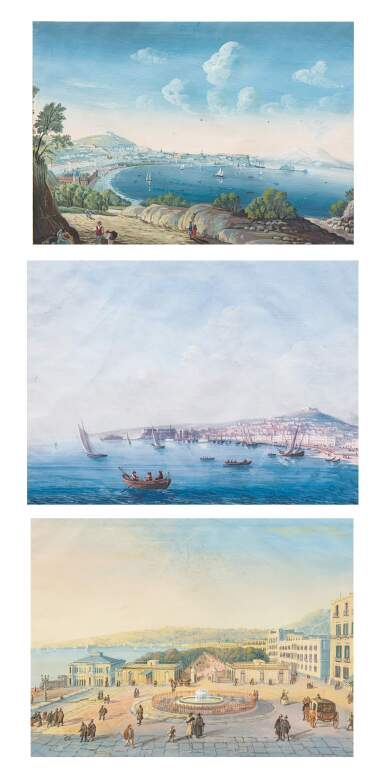 19TH CENTURY NEAPOLITAN SCHOOL | VIEW OF NAPLES AND ITS BAY [VUE DE NAPLES ET DE SA BAIE]