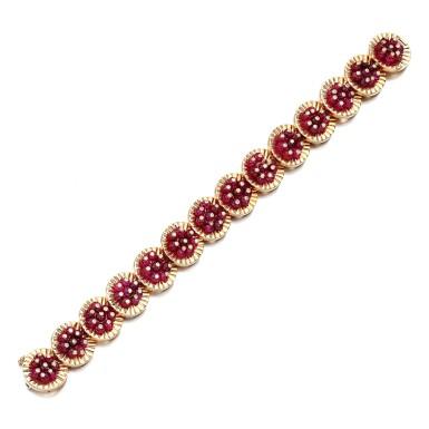 View 2. Thumbnail of Lot 64. Ruby and diamond bracelet, 1977.