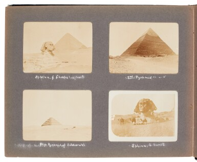 View 5. Thumbnail of Lot 95. Egypt | Album of 144 photographs of scenes in and around Cairo, 1907-8.