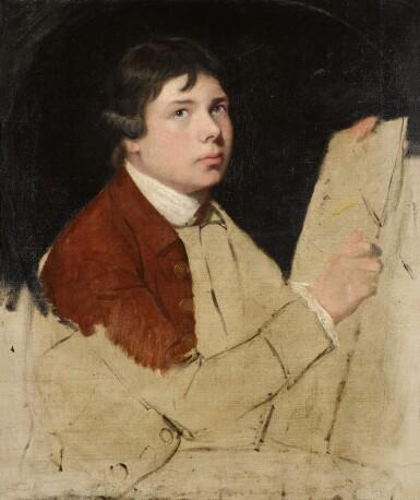 View 1. Thumbnail of Lot 36. JOHN HAMILTON MORTIMER, A.R.A.     SELF-PORTRAIT OF THE ARTIST.