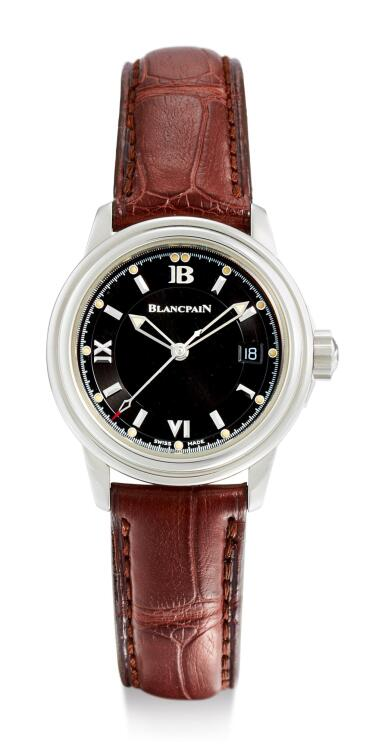 View 1. Thumbnail of Lot 8013. BLANCPAIN | LEMAN,  A STAINLESS STEEL WRISTWATCH WITH DATE, CIRCA 2000.