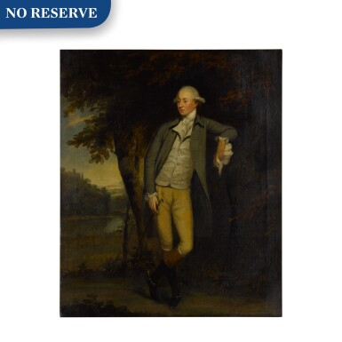 View 1. Thumbnail of Lot 108. Portrait of a gentleman in a landscape, full length.