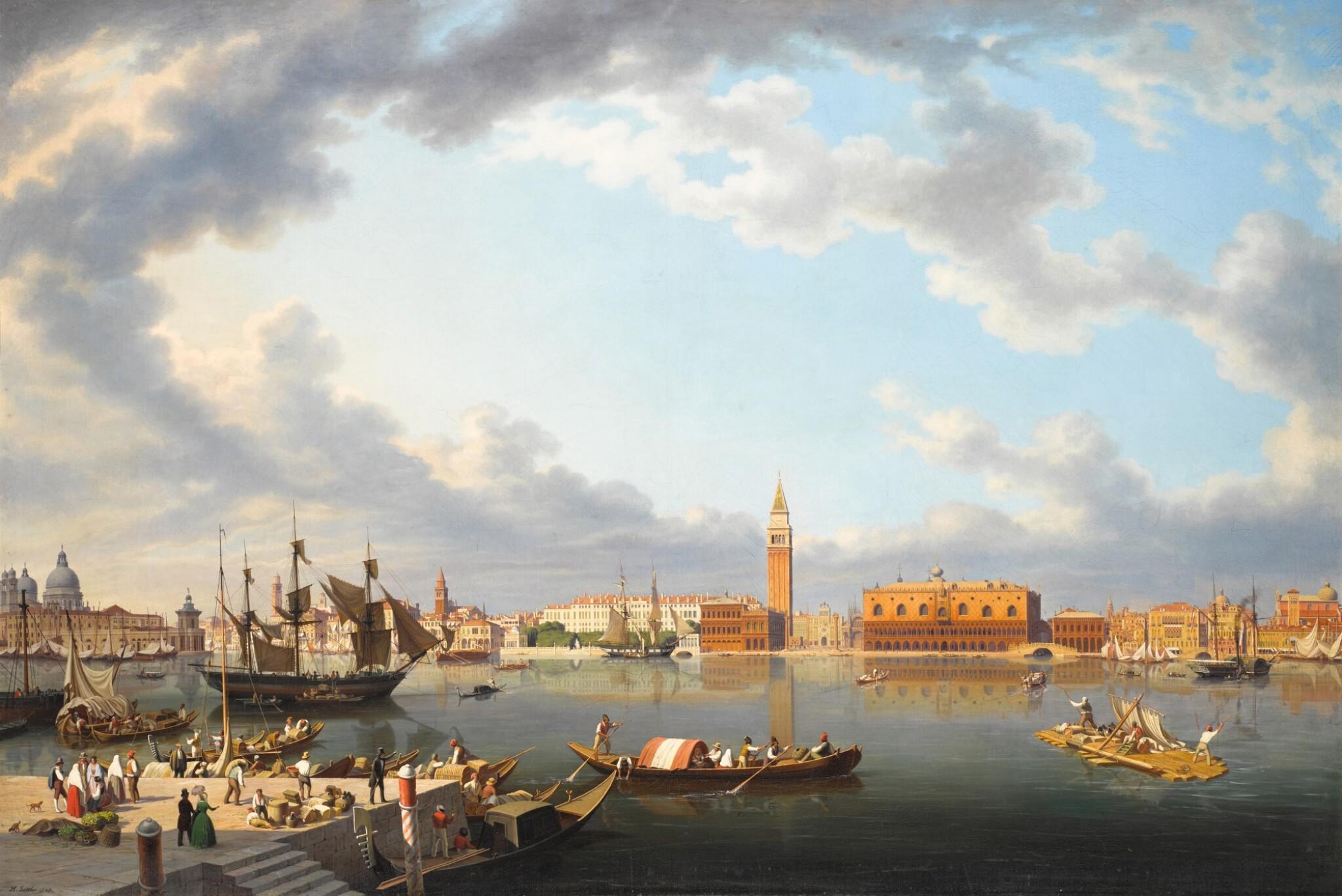 View 1 of Lot 73. Venice, From San Giorgio Maggiore.