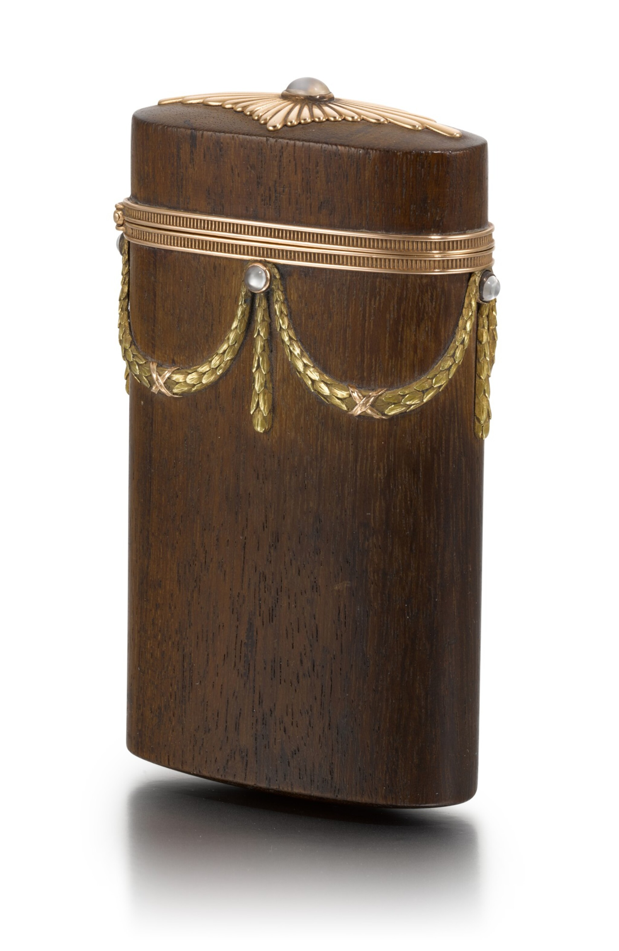 View full screen - View 1 of Lot 50. A varicolour gold-mounted and palisander wood etui, Anna Ringe, St Petersburg, 1899-1903.