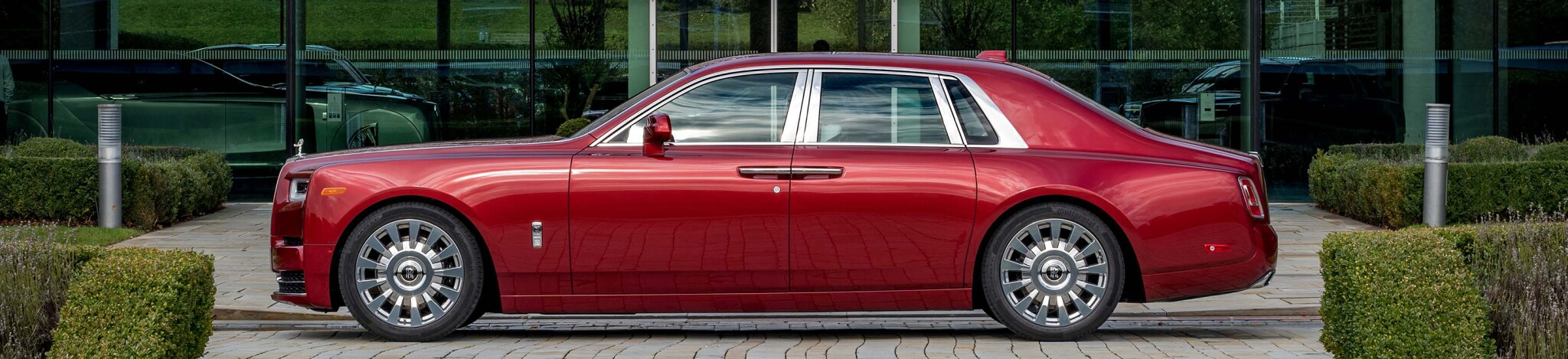 Red Rolls-Royce Phantom Commission with Mickalene Thomas