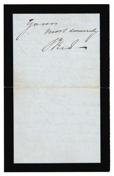 View 4. Thumbnail of Lot 126. QUEEN VICTORIA   autograph letter signed, to Tennyson, October 1883.