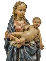 SOUTHERN NETHERLANDISH, BRABANT, CIRCA 1500   VIRGIN AND CHILD