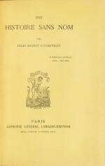 BARBEY D'AUREVILLY. Une histoire sans nom. 1882. Maroquin aubergine. E.O. Rare ex. sur Hollande.