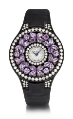 'Butterfly' Reference BF32BGVSD, 5 Limited Edition Blackened Gold, Purple Sapphire and Diamond-Set Wristwatch | 格拉夫| Butterfly編號BF32BGVSD 5,限量版鍍黑金,紫色剛玉及鑽石腕表,約2010年製