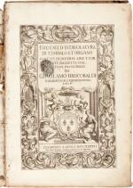 G. Frescobaldi. Toccate d'intavolatura di cimbalo et organo...Libro P[rimo], fifth edition, 1637