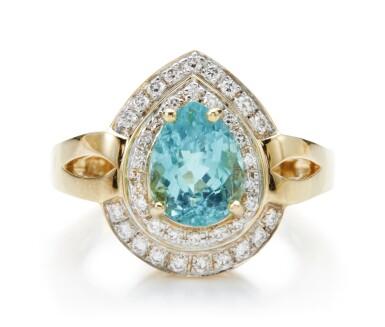 PARAIBA TOURMALINE AND DIAMOND RING
