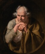 JOSEPH WRIGHT OF DERBY, A.R.A. | Study of a Philosopher | 約瑟夫・懷特・德比,A.R.A. |《哲學家(習作)》