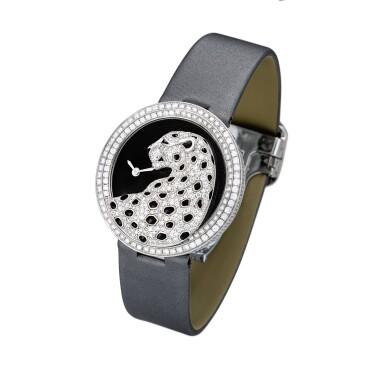 View 2. Thumbnail of Lot 2058. Cartier   Panthère Divine, Reference 3607, A white gold, black enamel and diamond-set wristwatch, Circa 2013   卡地亞   Panthère Divine 型號3607 白金鑲黑色琺瑯及鑽石腕錶,約2013年製.