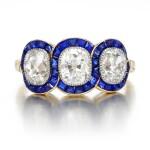 Sapphire and diamond ring, circa 1915