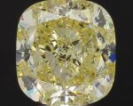 A 5.03 Carat Fancy Intense Yellow Cushion-Cut Diamond, SI1 Clarity