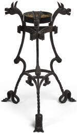 PROBABLY AUSTRIAN, 15TH CENTURY   STAND WITH ZOOMORPHIC TERMINALS