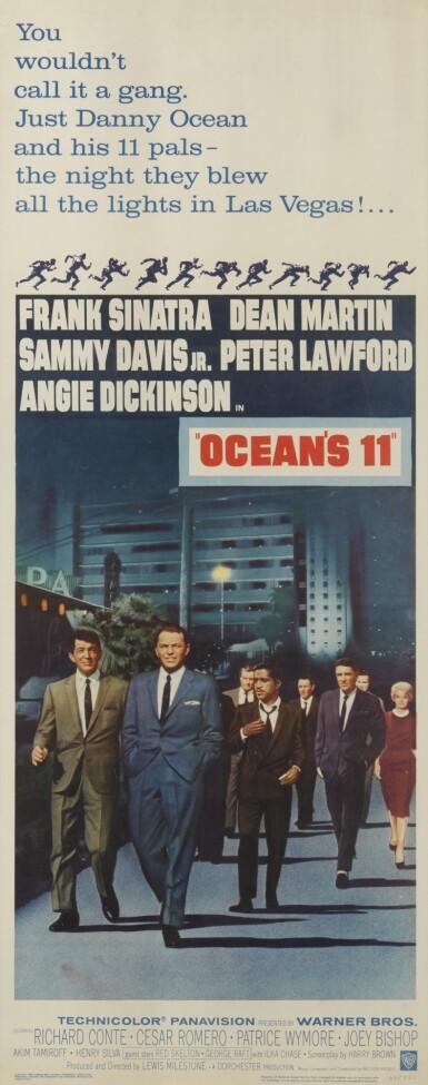 OCEAN'S 11 (1960) POSTER, US