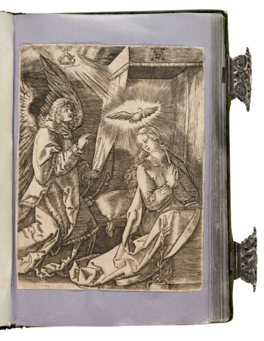 View 3. Thumbnail of Lot 109. [Dürer], A set of engravings copied from Dürer's Small Passion, in a silver binding.
