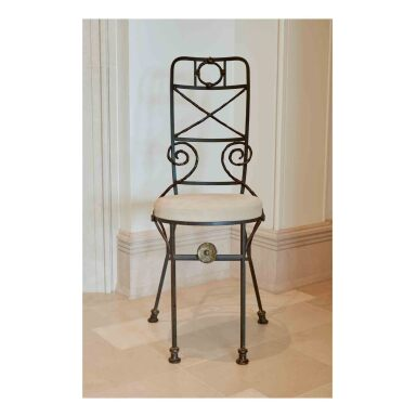 "View 3. Thumbnail of Lot 2. Pair of ""Fondation Maeght"" Side Chairs."