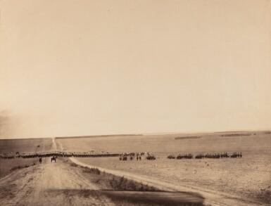 View 2. Thumbnail of Lot 2. GUSTAVE LE GRAY | LA MESSE DU 4 OCTOBRE, CAMP DE CHÂLONS, 1857  MANOEUVRES DE CAVALERIE, CAMP DE CHÂLONS, 1857.