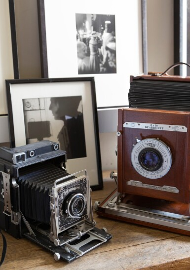 View 5. Thumbnail of Lot 9. Large format Studio Camera of Paolo Roversi, L.F. Deardroff & Sons Wood Field.