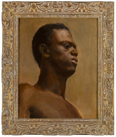 View 2. Thumbnail of Lot 184. Study of a man, bust-length.