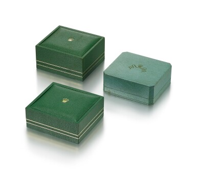 ROLEX | A SET OF THREE PRESENTATION BOXES, CIRCA 1950