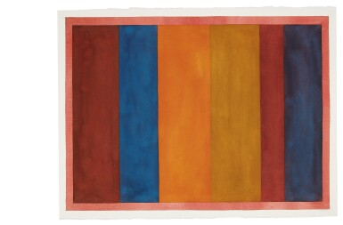 View 4. Thumbnail of Lot 25. Uneven Vertical Bands of Color VII II; Uneven Vertical Bands of Color VI III; Uneven Vertical Bands of Color X IV; Uneven Vertical Bands of Color II [four works].