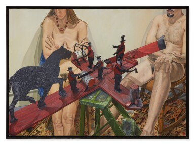 View 2. Thumbnail of Lot 551. PHILIP PEARLSTEIN | TWO MODELS WITH OLD WHIRLY-GIG: WHEN THE WIND BLOWS THE FIGURE WORKS.