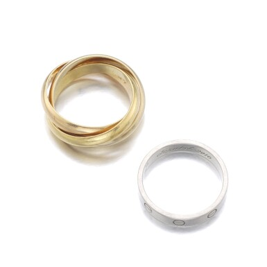 View 3. Thumbnail of Lot 146. CARTIER   RING, 'LOVE', AND RING, 'TRINITY'.