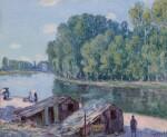 Cabanes au bord du canal du Loing, Effet de soleil