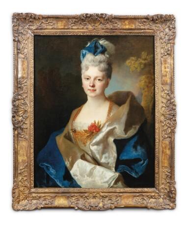View 2. Thumbnail of Lot 45. Presumed portrait of the Countess Elisabeth de Saint-Périer (1701-1777).