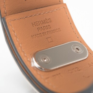 Hermès Colvert Intense Bracelet of Shiny Mississippiensis Alligator with Palladium Hardware Size Large