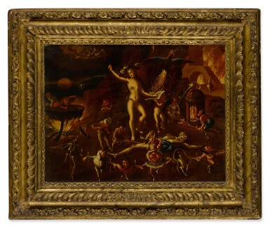 View 2. Thumbnail of Lot 18. A witchcraft scene.