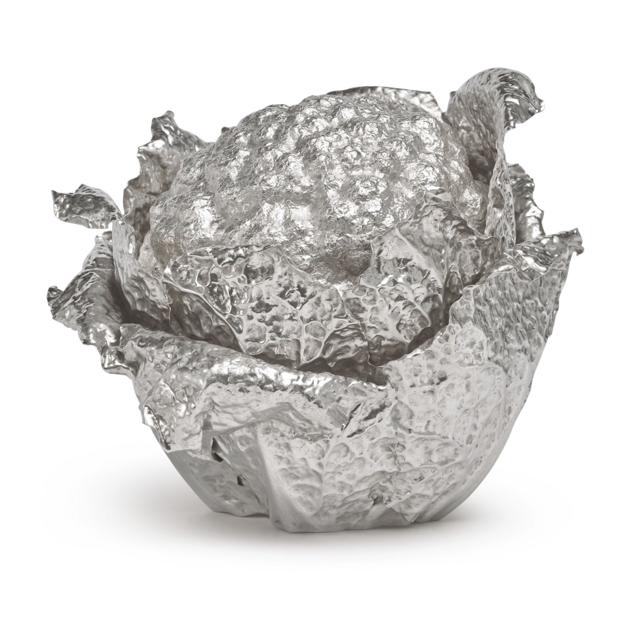 View full screen - View 1 of Lot 928. AN ITALIAN SILVER CAULIFLOWER-FORM TUREEN AND COVER, BUCCELLATI, MILAN, 20TH CENTURY.