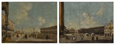 View 2. Thumbnail of Lot 22. Venice, a view of St. Mark's Square towards San Geminiano & Venice, a view of the Piazzetta towards San Giorgio Maggiore.