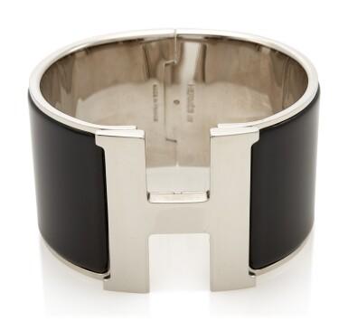 Enamel and palladium bracelet, Clic Clac H, Hermès