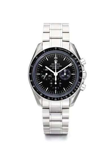 OMEGA | SPEEDMASTER 50TH ANNIVERSARY, A LIMITED EDITION STAINLESS STEEL CHRONOGRAPH WRISTWATCH WITH REGISTERS AND BRACELET CIRCA 2007