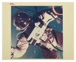 "[GEMINI 4] FIRST AMERICAN SPACEWALK. VINTAGE NASA ""RED NUMBER"" PHOTOGRAPH, 3 JUNE 1965."
