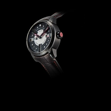 View 4. Thumbnail of Lot 2211. Christophe Claret | Texas Hold'em Poker, Reference TI004PCK05, A limited edition PVD-Coated titanium wristwatch with striking hammer, cathedral gong and two casino games, Circa 2014 | Texas Hold'em Poker 型號TI004PCK05  限量版PVD塗層處理鈦金屬腕錶,備音錘、大教堂音簧及兩款賭場遊戲,約2014年製.