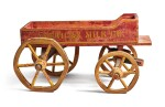 'AMERICAN MILK COMPANY' PAINTED WOOD AND WIRE CHILDREN'S PULL-TOY WAGON, EARLY 20TH CENTURY