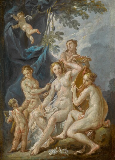 View 1. Thumbnail of Lot 192. FRENCH SCHOOL, 18TH CENTURY | The Toilet of Venus.