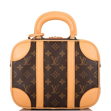 View 1. Thumbnail of Lot 85. LOUIS VUITTON   MONOGRAM VALISETTE MINI LUGGAGE PM IN COATED CANVAS AND VACHETTA LEATHER WITH GOLDEN BRASS HARDWARE.