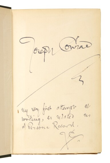 View 1. Thumbnail of Lot 85. Conrad, Almayer's Folly, 1895, signed.