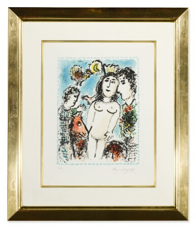 View 2. Thumbnail of Lot 59. MARC CHAGALL   CROWNED NUDE (M. 1041).