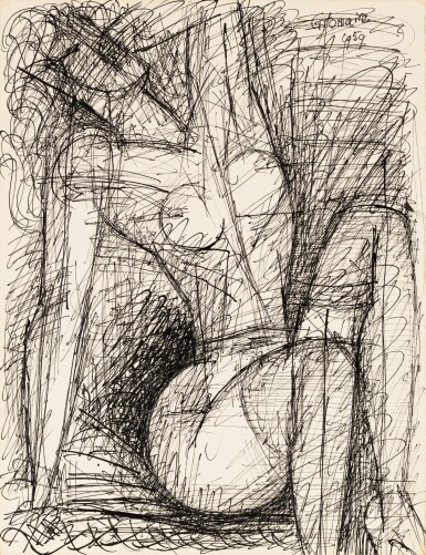 View 1. Thumbnail of Lot 104. Femme nue assise.