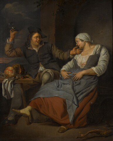 JACOB TOORENVLIET | A seated couple drinking wine