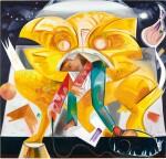 Dana Schutz 戴娜・舒茨 | Lion Eating Its Tamer 獅子吃馴獅人