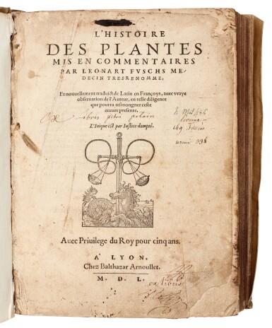 View 2. Thumbnail of Lot 11. Fuchs | L'Histoire Des Plantes mis en commentaires, 1550.